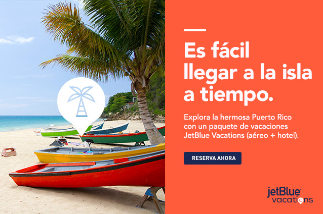 It's easy to get on island time. Explore beautiful Puerto Rico with a JetBlue Vacations package (air and hotel).