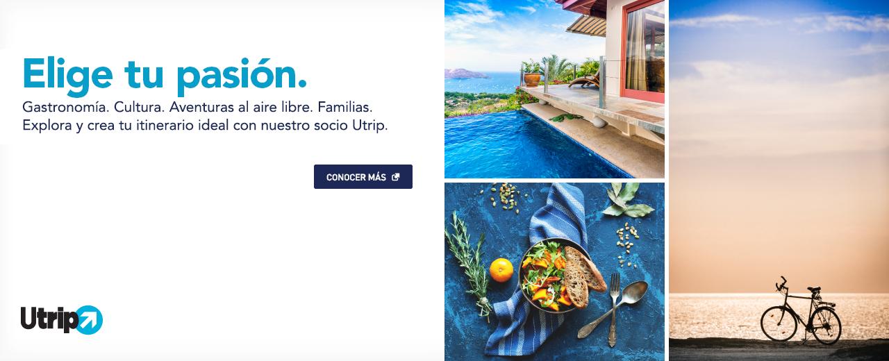 Tu próxima ventura, más fácil que nunca. Explora y crea itinerarios personalizados con nuestro socio, Utrip. Vamos. El enlace se abre en una nueva ventana operada por terceros y puede que no esté regida por las mismas políticas de accesibilidad de JetBlue.