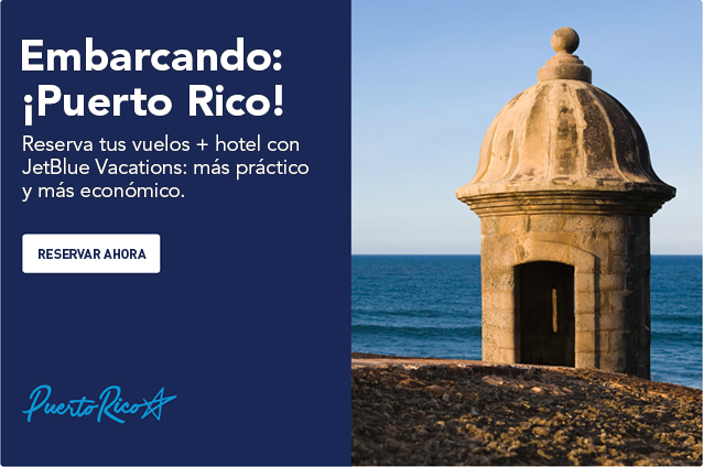 Now boarding: Puerto Rico! Book your flights and hotel with JetBlue Vacations for even more savings and convenience. Book now.