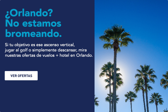 Orlando? We're not kidding around. Whether your goal is that vertical climb, the back nine, or me-time, check out our Orlando flight and hotel deals. See deals.