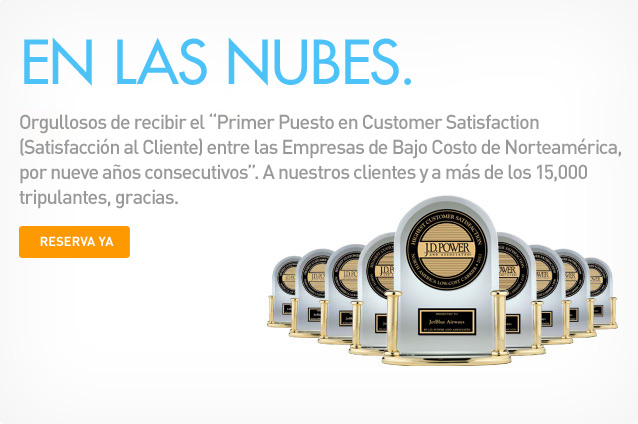 Premio JD Power de JetBlue.